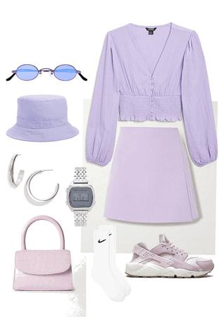 purple ootd