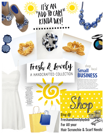 Shop online! White blue yellows