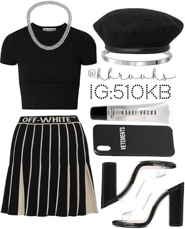 simple black fit.