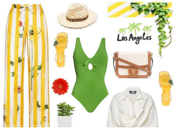 yellow stripes outfit