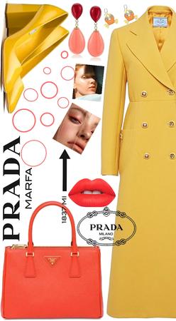 Prada - yellow, coral