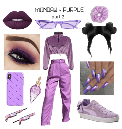 she crazy // monochromatic outfit - PURPLE prt2