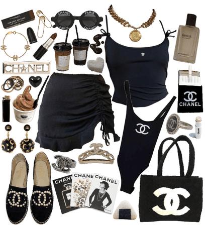 all black Chanel