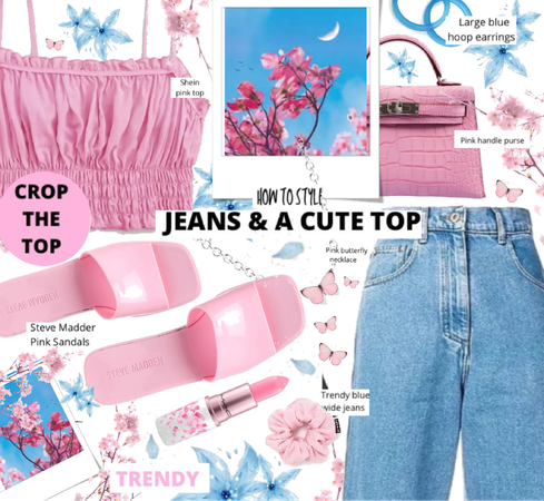 how to style jeans & a cute top