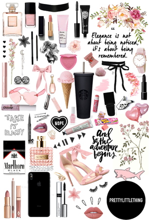 black & pink aesthetic