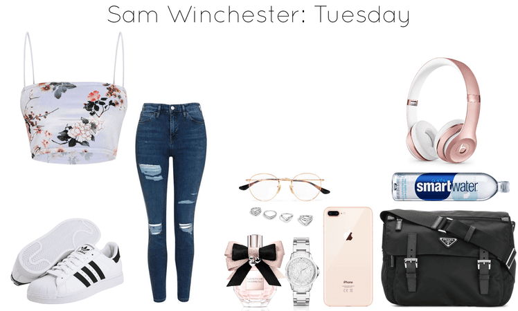 Sam Winchester School Outfit: Tuesday
