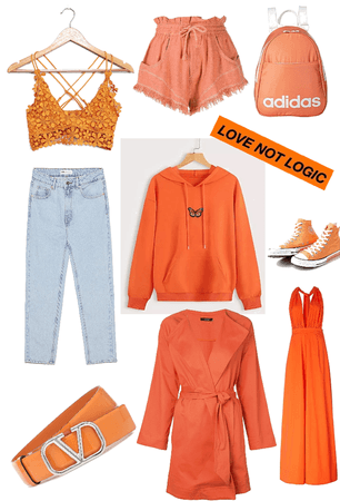 all orange look 🧡
