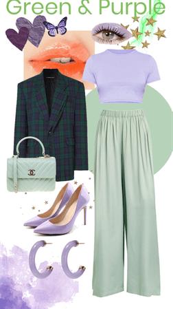 GREEN & PURPLE monochrome fashion