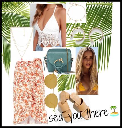 Spring break tropical vacation