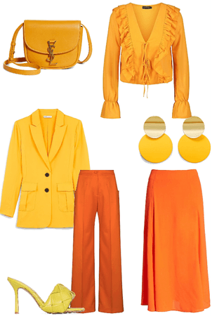 Orange and Yellow