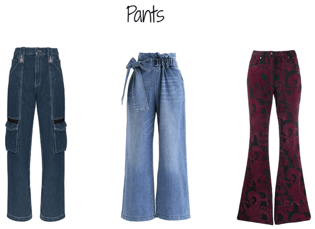Pants for straight body shapes