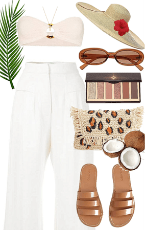 natural beach outfit