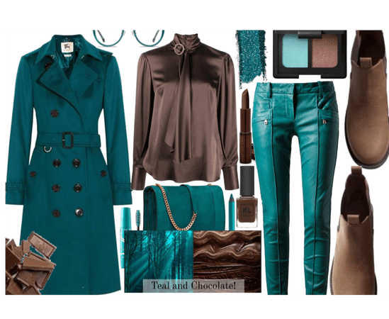 teal and cholcate