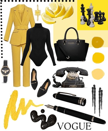 Officewear - Yellow and Black
