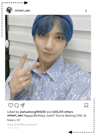 || SVT MINA || Instagram Post for Joshua