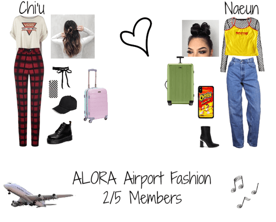 Airport Fashion || Fake K-Pop Girl Group ALORA