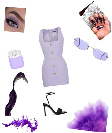 purple causal outfit