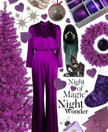 purple xmas magic
