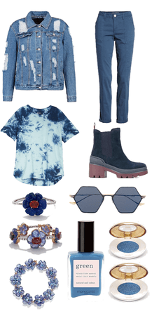 Teen's Blue Back to School Outfit