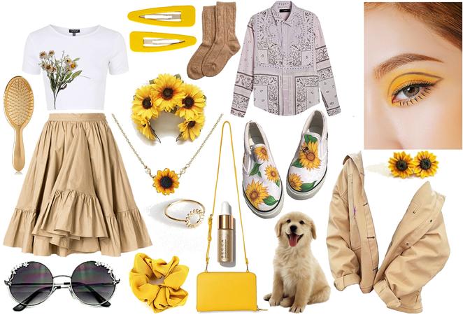 Sunflower Inspired Look