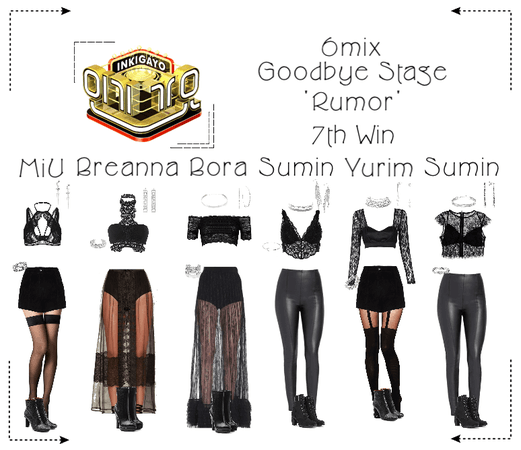"《6mix》Inkigayo Goodbye Stage ""Rumor"""