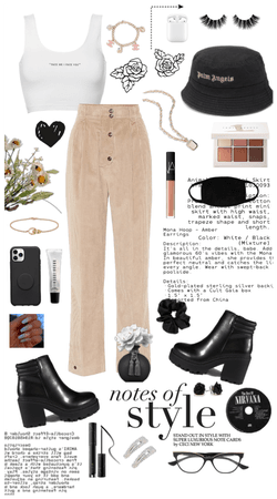 Beige and black chic