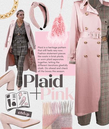 plaid + pink