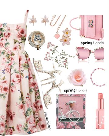 pink floral dress🌸🌷