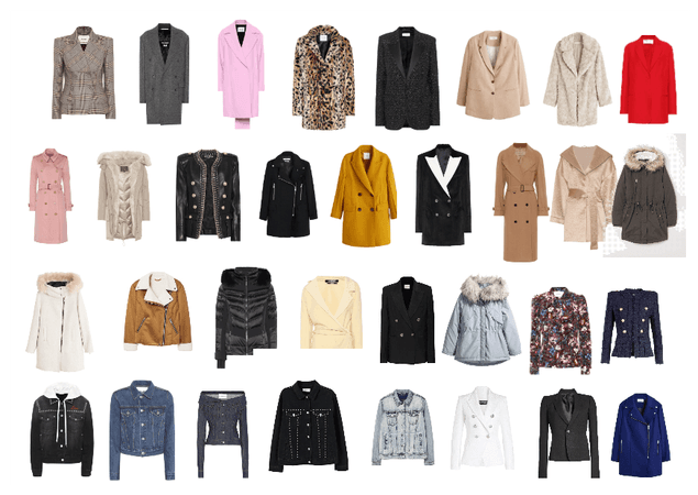 Jackets, coats and blazer Pear/Triangle body shape