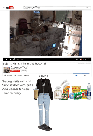 sojung visiting min in hospital