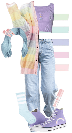 pastel outfit!!