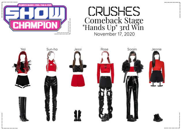 "Crushes (호감) ""Hands Up"" Comeback Stage 3rd Win"