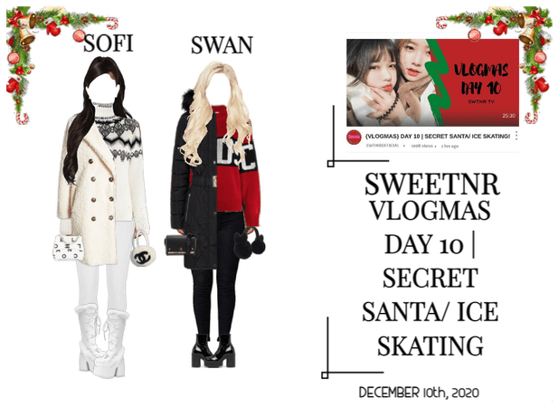 {VLOGMAS} DAY 10 | SECRET SANTA/ ICE SKATING