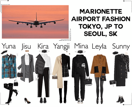 MARIONETTE (마리오네트) Airport Fashion | Tokyo, Japan to Seoul, South Korea