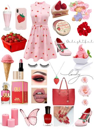 Strawberry Delight🍓🍰🍨