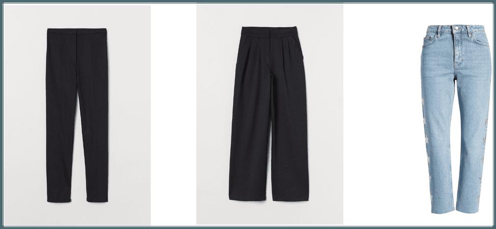 Basic wardrobe - pants and jeans