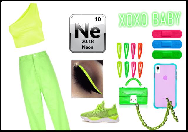 bright green neon