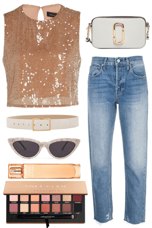 jeans glam