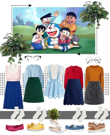 Steal Outfit - Doraemon Family