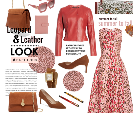 Leopard to leather look