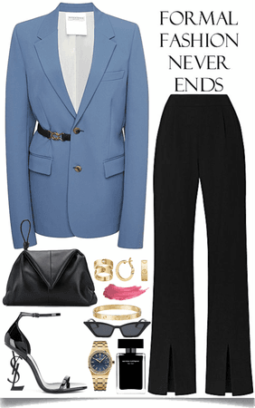 nice blue blazer look