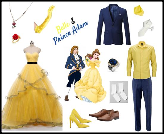 Belle & Prince Adam - Prom night - Disneybounding
