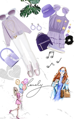 purple outfit💫