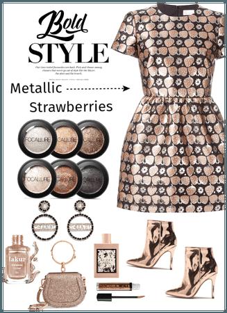 Metallic Strawberry Dress! Be Bold
