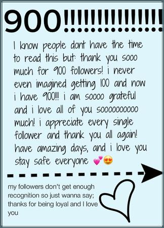 900!!! Wow thank you all sooooooooooooo much