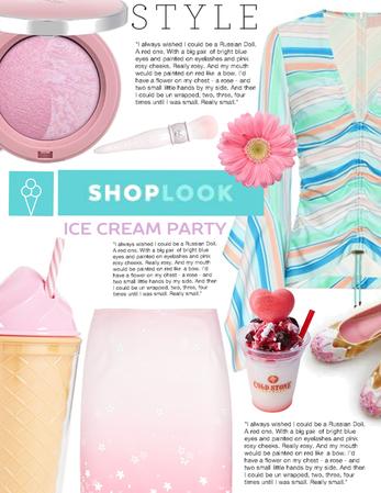 Strawberry and mint icecream