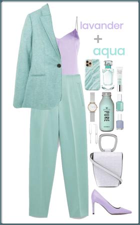 lavander + aqua