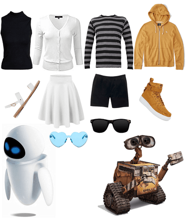 Wall-E and Eve Couple DisneyBound