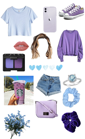 blue and purple @looksbylyla contest
