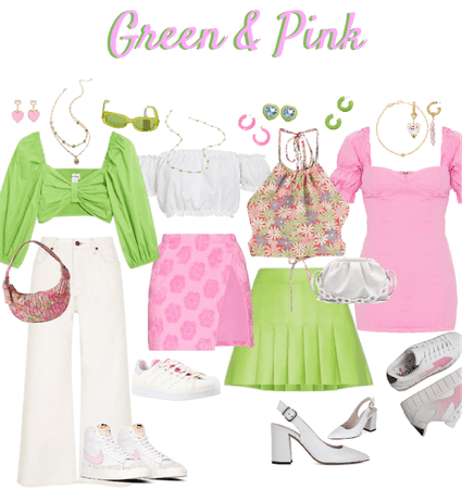 Green & Pink Lookbook